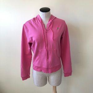 Lilly Pulitzer pink zip up hoodie sweatshirt
